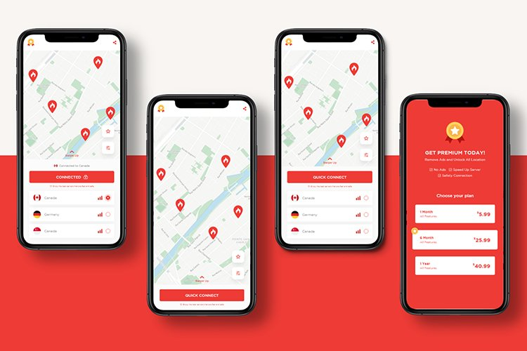 RedVPN Design UIUX Apps Mobile example image 1