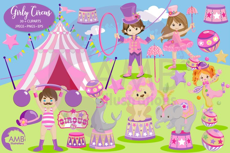Girly Circus Clipart Pack AMB-2612