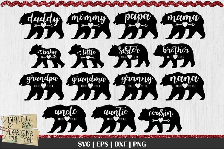 Bear Family Bundle SVG | Mama Bear SVG | Little Bear SVG
