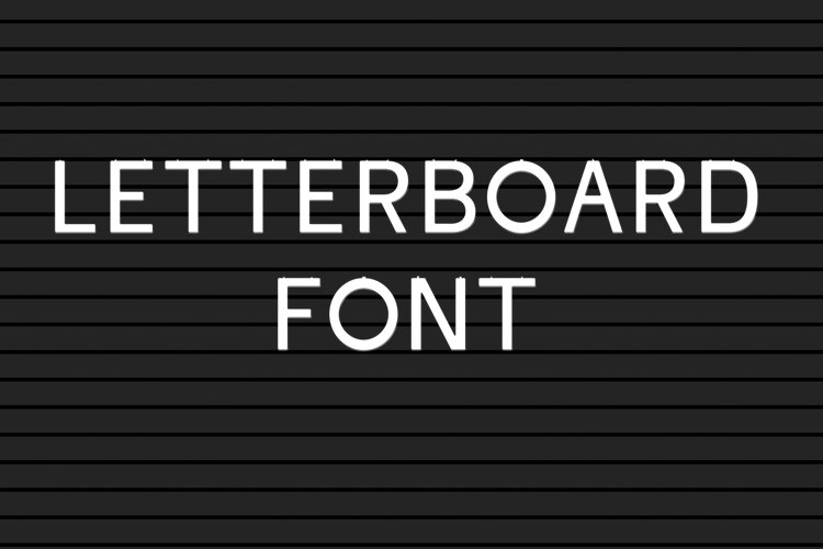Letter board font - A believable letterboard look example image 1