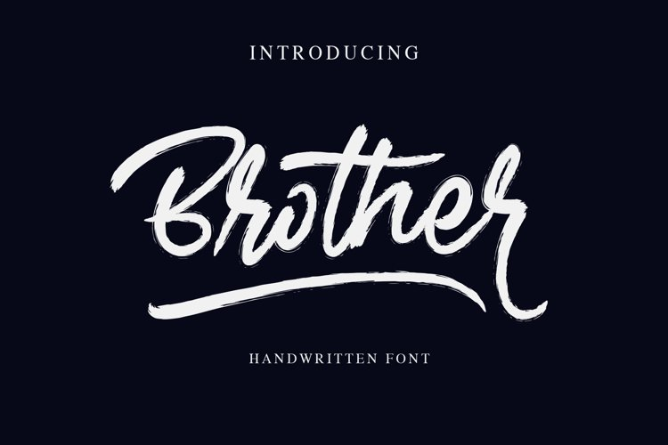 Brother - Handwritten Font example image 1
