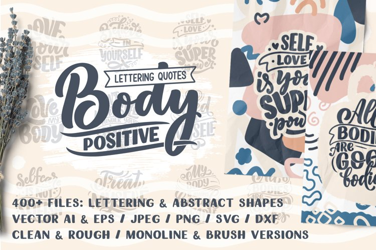Body Positive - Lettering & Abstract example image 1