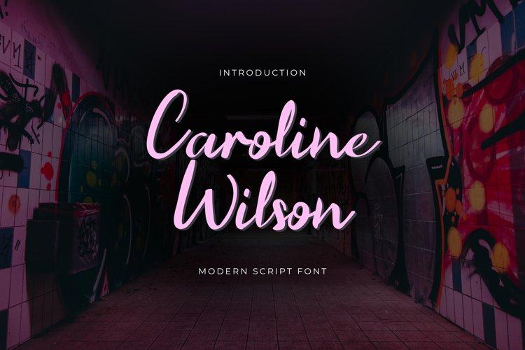 Caroline Wilson Handwritten Font example image 1