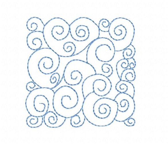 Quilt Block Stippling in 3 sizes example image 1