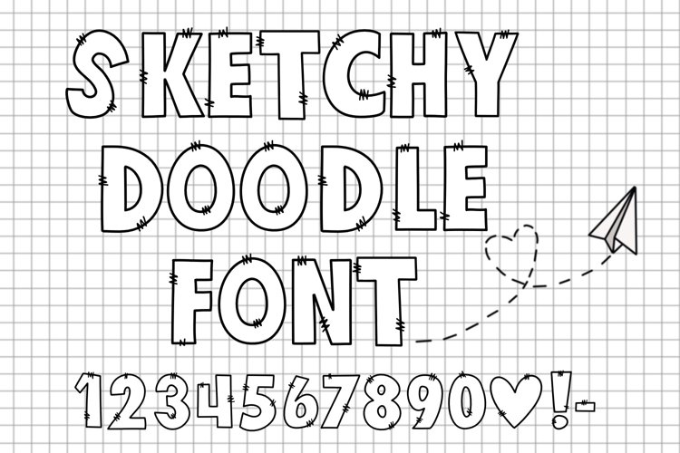 Sketchy Doodle Font example image 1
