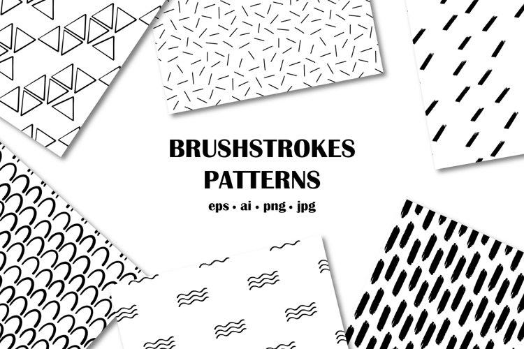 Set of vector monochrome geometry patterns