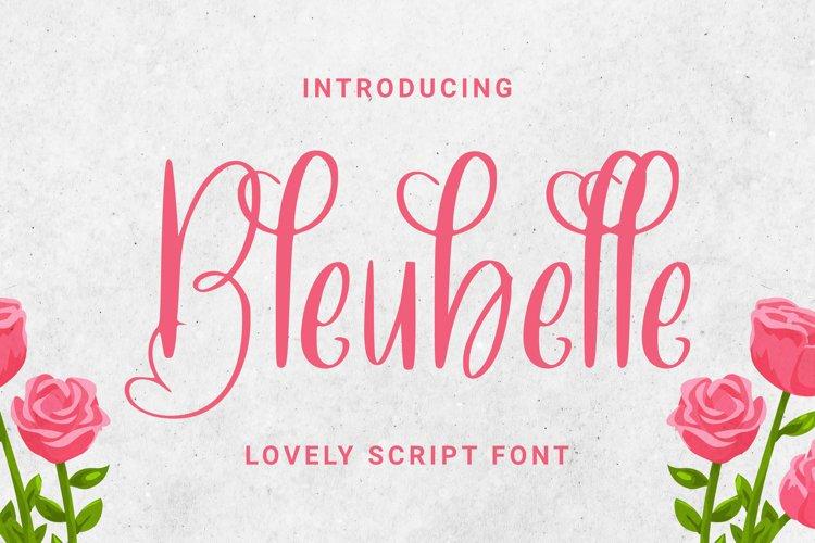 Bleubelle Font example image 1