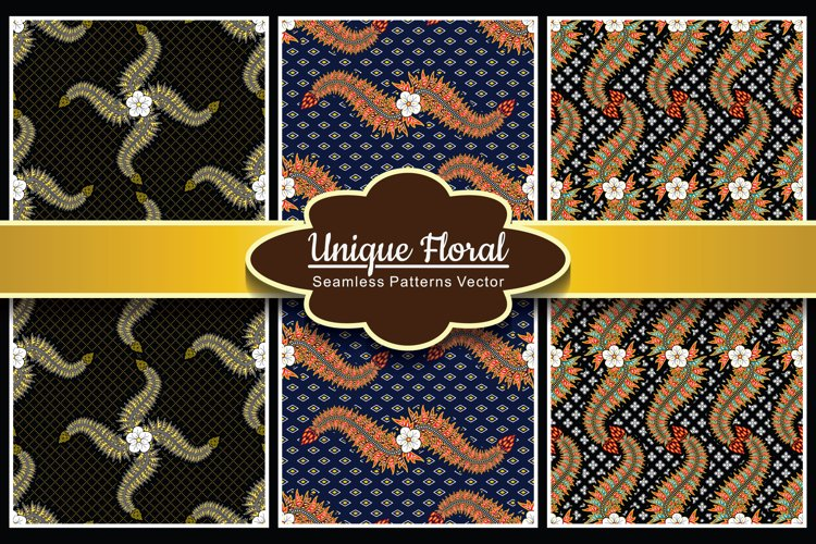 Collection - Unique Seamless Pattern Vector Vol.1 example image 1