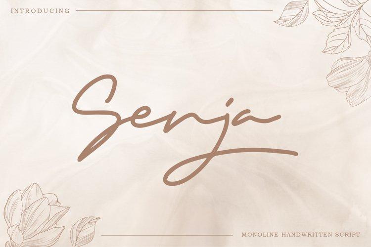 Senja - Monoline Handwritten Script example image 1