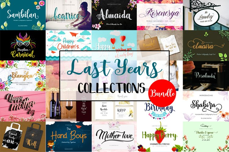 Last years Collections Bundle