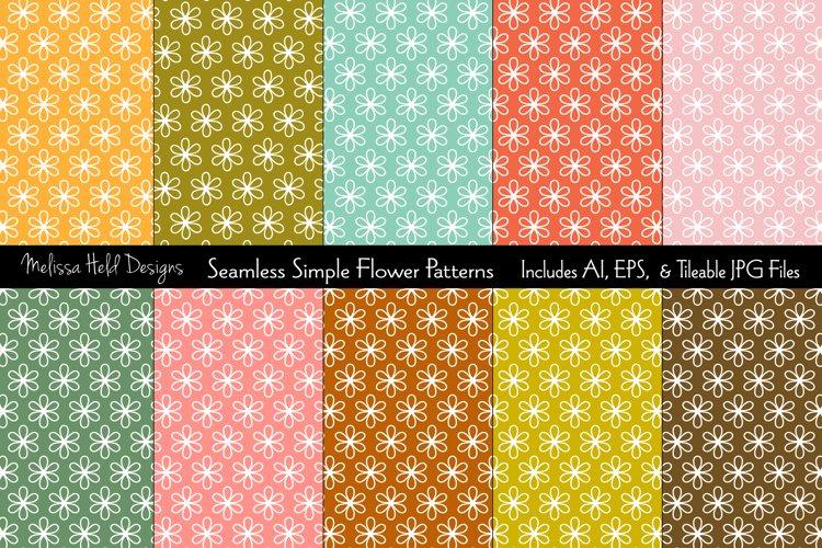 Seamless Simple Flower Patterns
