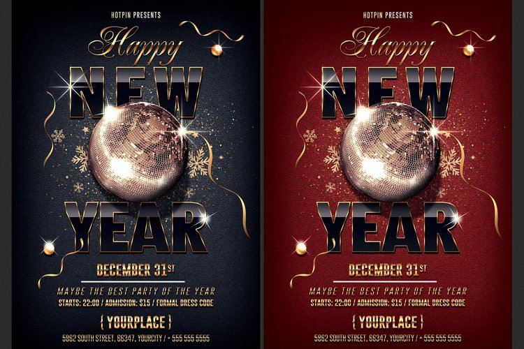 Classy New Year Party Flyer example image 1