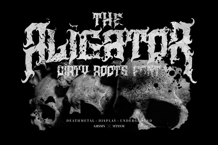 Aligator - Deathmetal Font example image 1