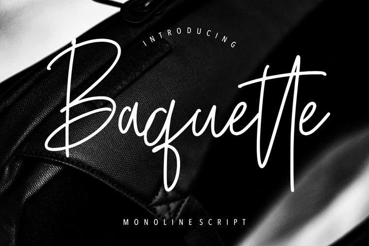 Baquette Monoline Script example image 1