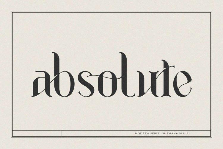 Absolute - Modern Serif
