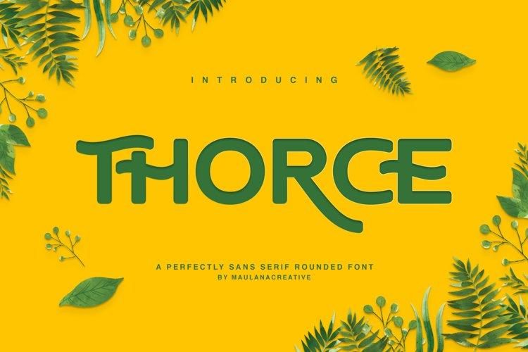 Thorce Rounded Sans Font example image 1