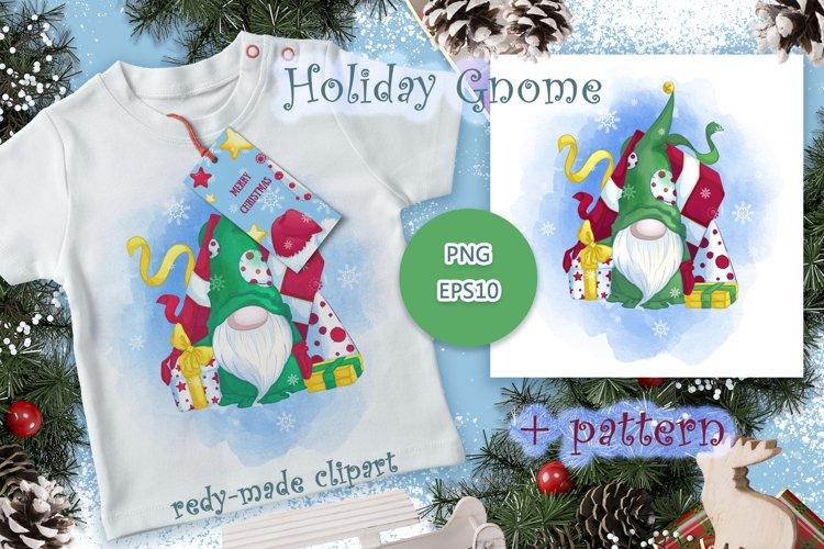 Holiday Gnome. Christmas. example image 1