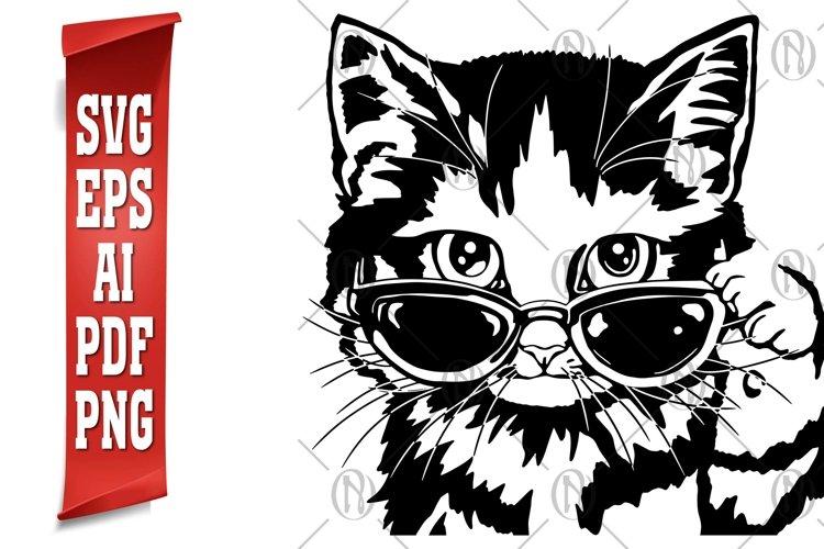 Cat in Glasses SVG, AI, Eps, PDF & Png Cutting File