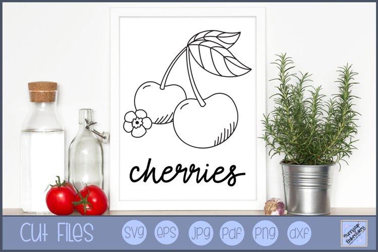 Farmhouse Cherries - SVG, Clipart, Printable example image 1