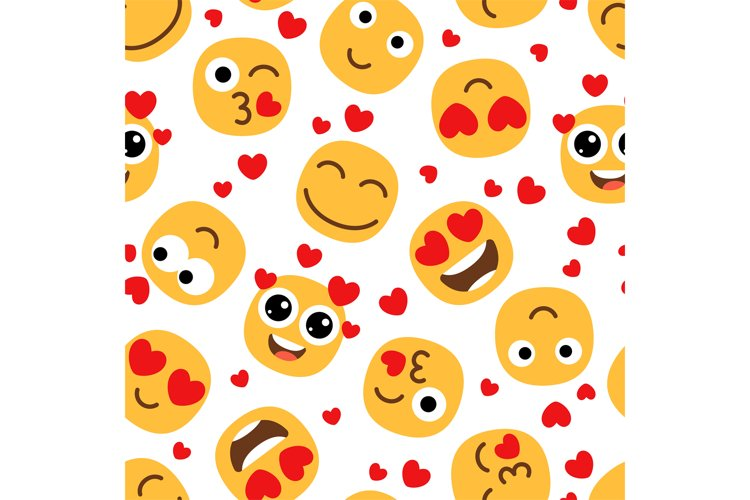 Love emojis seamless pattern example image 1