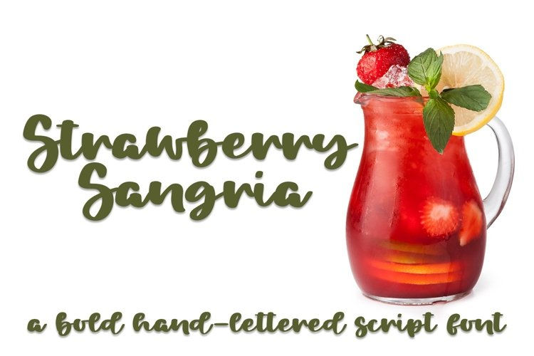 Web Font Strawberry Sangria - A Bold Hand-Lettered Script Fo example image 1