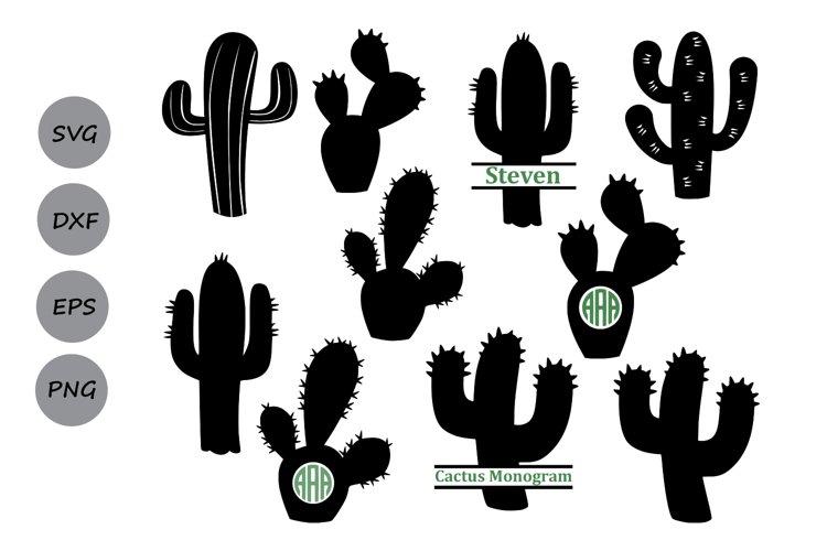 Cactus svg, cactus clipart, Cactus Monogram Svg. example image 1