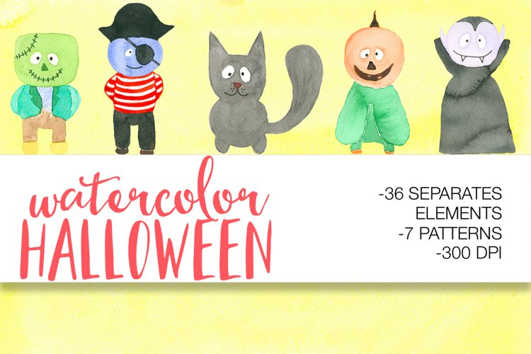 Watercolor Halloween example image 1