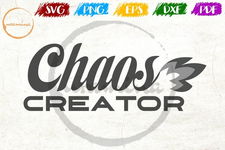 Chaos Creator Kids Room Sign SVG PDF PNG example image 1