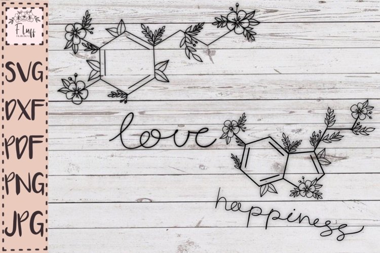 Serotonin, oxytocin, love and happiness, chemical molecule