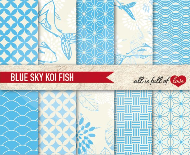 Japanese Backgrounds Sky Blue Digital Graphics  example image 1