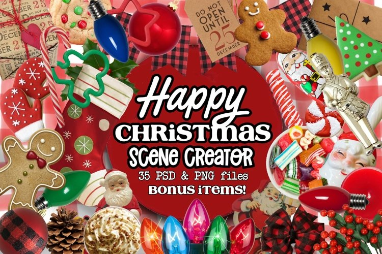 Happy Christmas Scene Creator example image 1