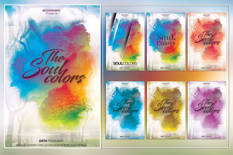 The Soul Colors Photoshop Flyer Template example image 1