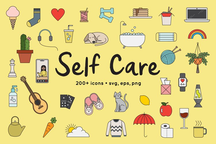 Self Care, Stay Home Illustrations