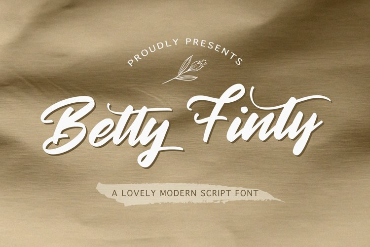 Betty Finty - Modern Script Font example image 1
