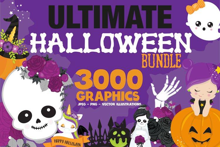 Halloween Bundle Illustrations - Sublimation Clipart designs