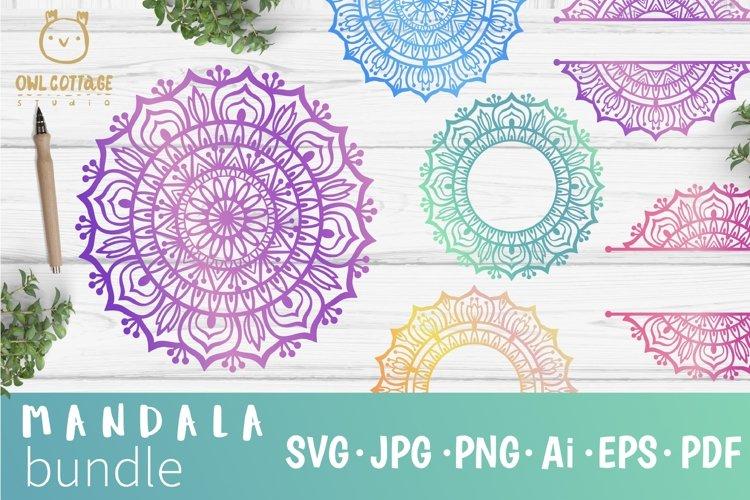 Mandala Bundle SVG, Yoga Mandala Cutting Files, Indian Round example image 1
