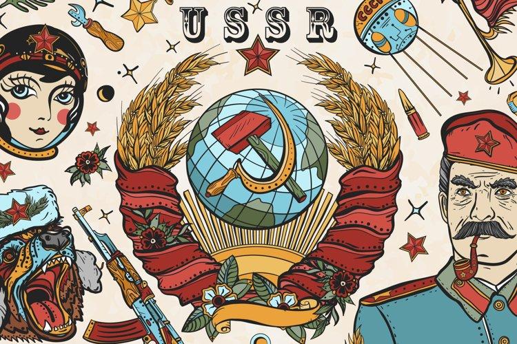 USSR old school tattoo example image 1