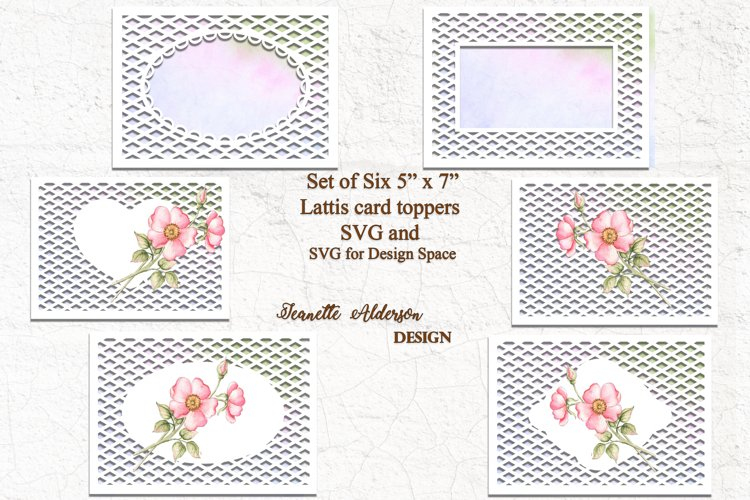 """Trellis Toppers 5"""" x 7"""" bundle with 6 options example image 1"""