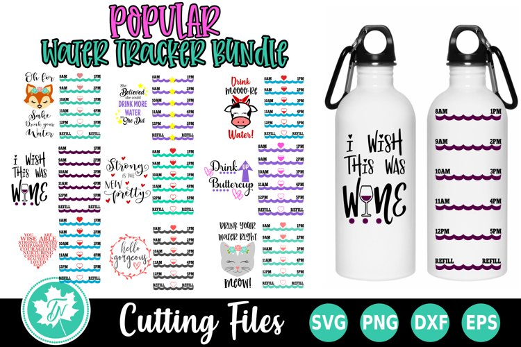 Water Tracker Bundle 2 - Water Tracker SVG Cut Files example image 1