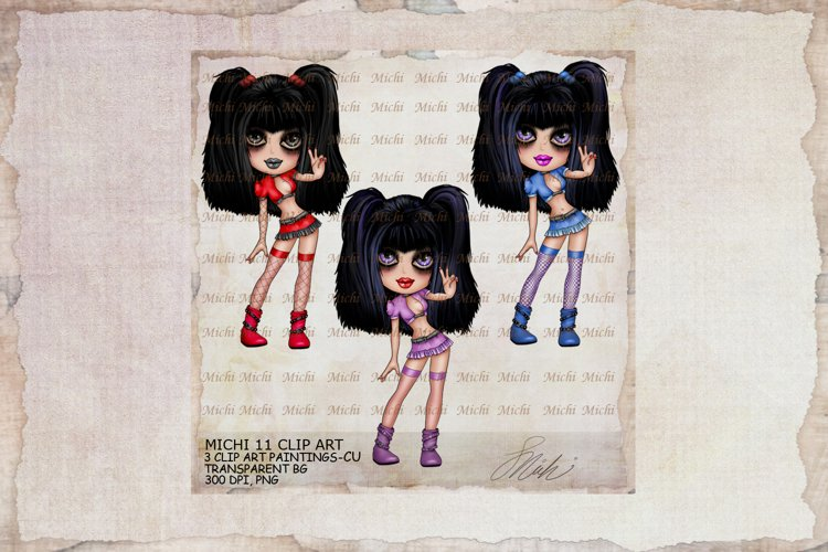Michi 11 Cute Peace Girl Clip Art