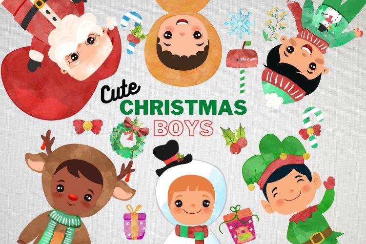 Christmas Clipart Boys example image 1