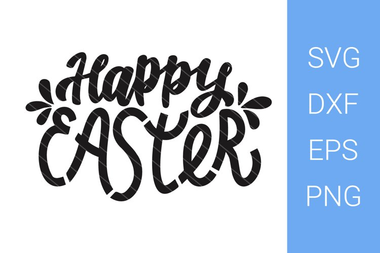 Happy Easter SVG, Hand Lettering example image 1