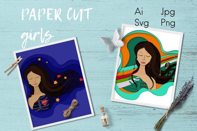 Paper cut girls