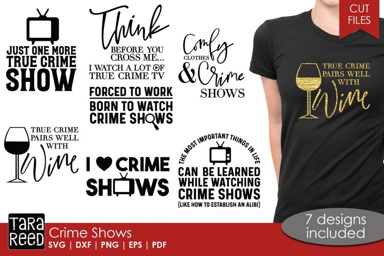 True Crime - Television SVG Files and Cut Files for Crafters
