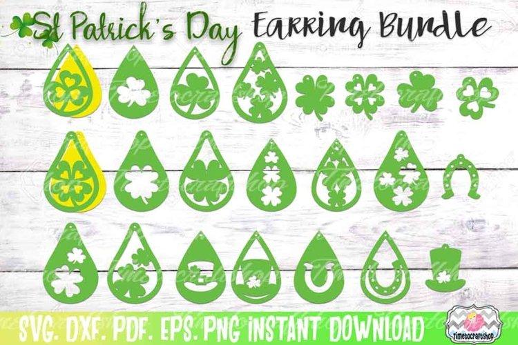 St Patrick's Day Earring Bundle, Shamrock Teardrop Earrings example image 1