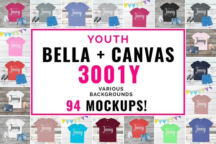 Bella Canvas 3001Y Youth Unisex Mockup Bundle