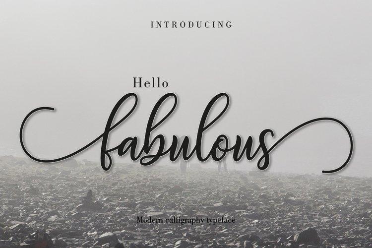 Fabulous Script | WEB FONT example image 1
