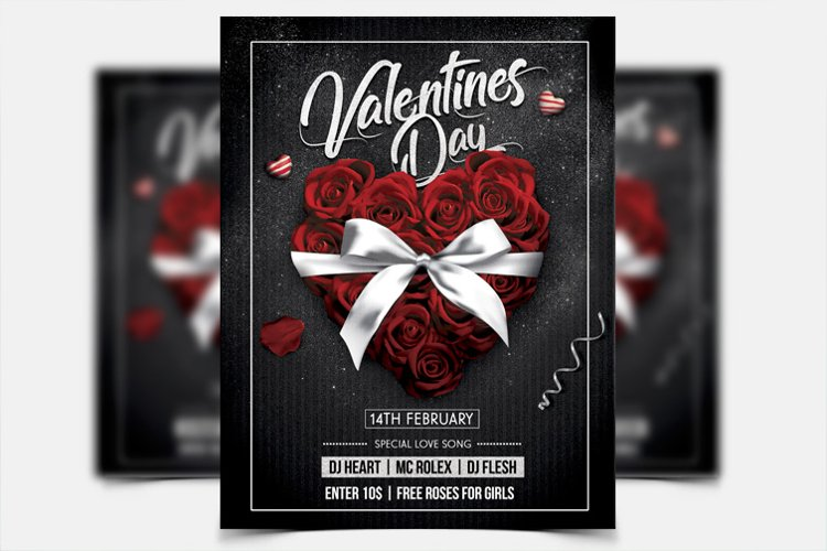 Valentines Day Party - PSD Flyer Template
