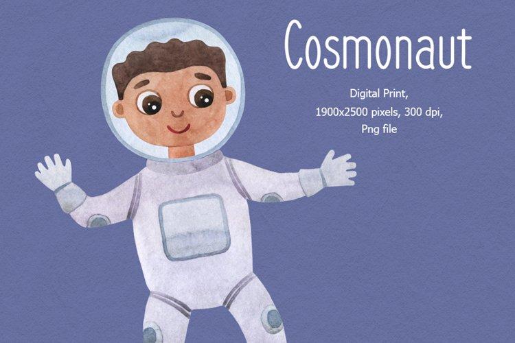 Baby boy astronaut clipart, cosmonaut clipart,
