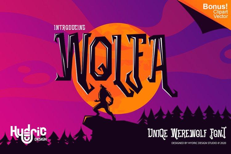 Wolfa - Werewolf Typeface example image 1